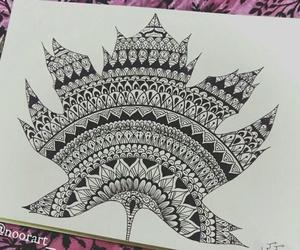 dibujo, mandalas, and zentangle art image