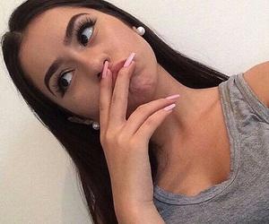 black hair selfie image