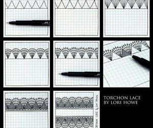 step by step, how to do, and zentangle image