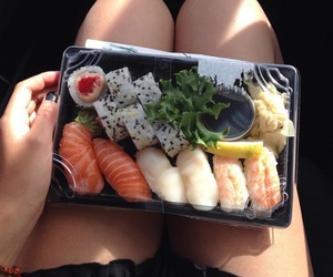 food, sushi, and healty image