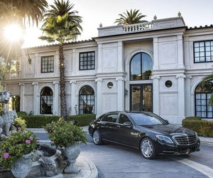 car, luxury, and mansion image