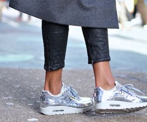 nike, fashion, and silver image