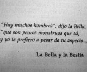 la bella y la bestia, frases, and book image