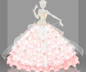 dress, fantasy, and sketch image
