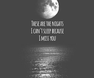night, moon, and quote image