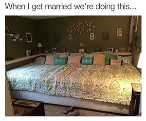 bed, funny, and goals image