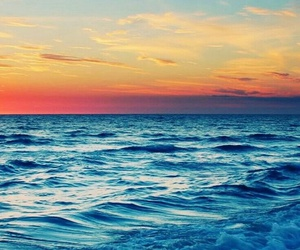 sea, summer, and sunset image