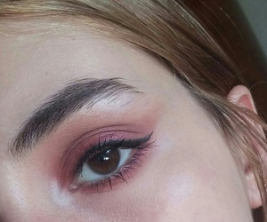 eyeliner, eyeshadow, and fashion image