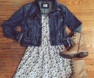 dress, fashion, and boots image