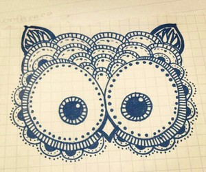 owl, drawing, and draw image
