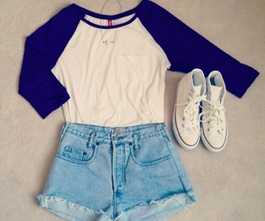outfit, converse, and style image
