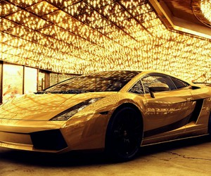elegant, gold, and Lamborghini image