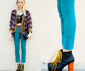 :D, blue, and heels image