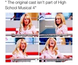 funny, cast, and high school musical image