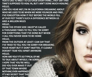 Adele, song, and hello image
