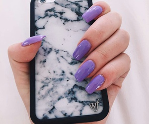 wildflower cases, marble phone cases, and long lavender nails image