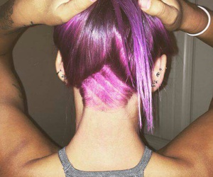 undercut, violet, and hair goals image