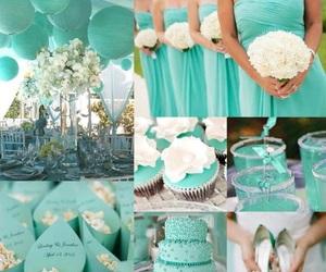 aqua, bride, and colors image
