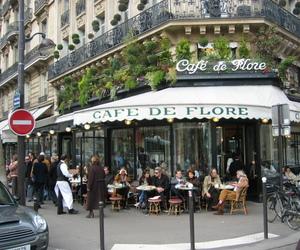cafe de flore, paris, and cafe image