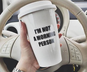 morning, coffee, and car image