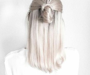 hair, modern, and white image
