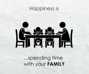 family, happiness, and meal image