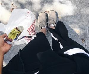 adidas, beige, and black image