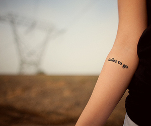 tattoo, miles, and miles to go image