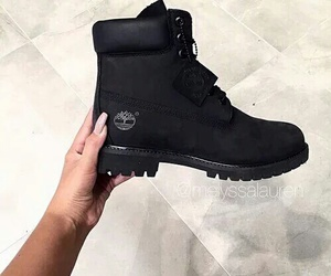 black, shoes, and timberland image