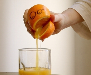 orange, funny, and juice image