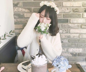 asian, flowers, and korean image