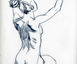art, figure drawing, and woman image