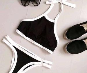 beach, bikini, and style image