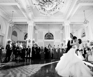 black and white, married, and wedding image