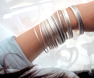 bracelet, fashion, and silver image