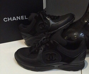 chanel, sneakers, and black image
