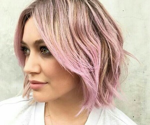 pink, hair, and Hilary Duff image