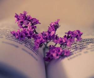 flower book purple image