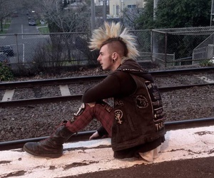 boots, guy, and Mohawk image