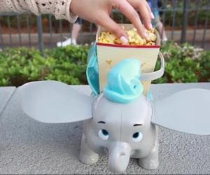 dumbo, popcorn, and disney image