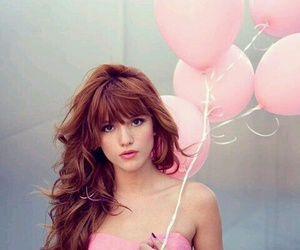 pink, bella thorne, and balloons image