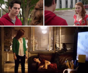 green, red, and teen wolf image