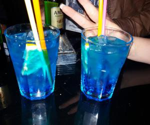 blue, cocktail, and alcohol image