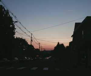 sunset, city, and grunge image