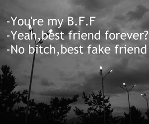 bff, bitches, and depressed image