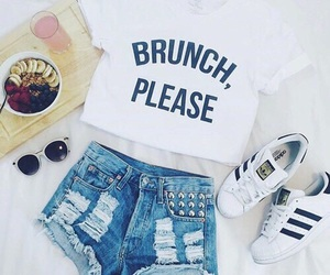 outfit, adidas, and brunch image