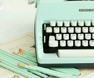 vintage, typewriter, and pastel image