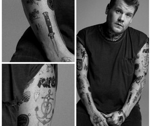 Tattoos, james corden, and larry stynlinson image