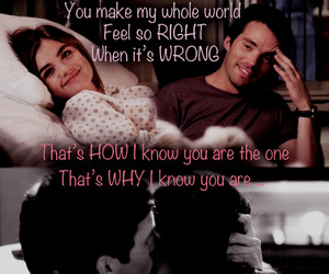 pretty little liars, aria montgomery, and ezra fitz image
