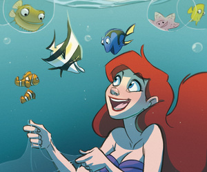 ariel, disney, and finding nemo image